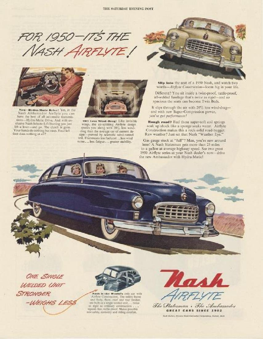 1950 Nash Airflyte Car Advertisement