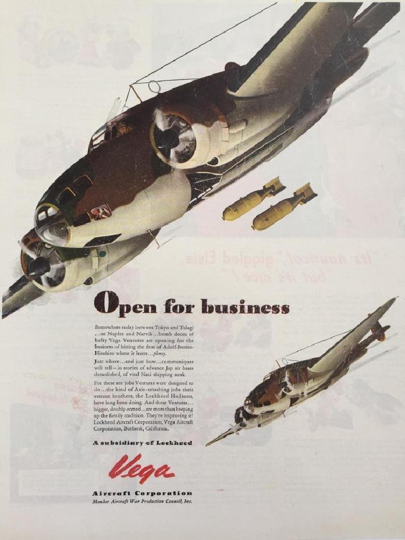 1943 Vega Aircraft Lockheed WWII Advertisement