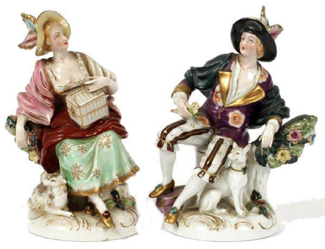 Pair of Early 19thc German Porcelain Figurines