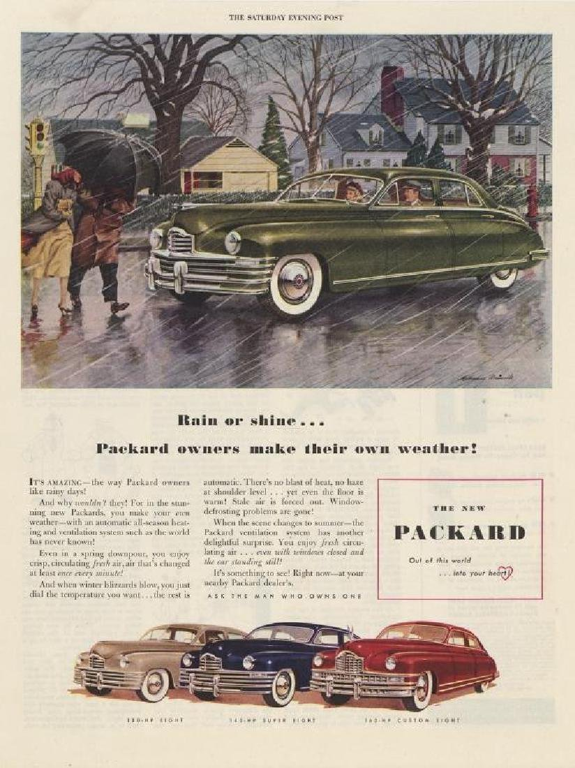 1948 Packard Rain Or Shine Magazine Ad