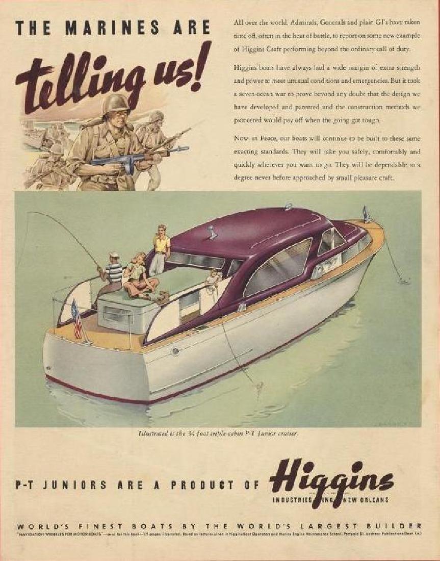 Original 1945 Higgins Cruiser WWII Boat Ad