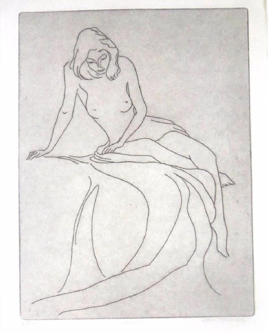 """Signed & Numbered Original Hal Singer (1919-2003) """"nude"""