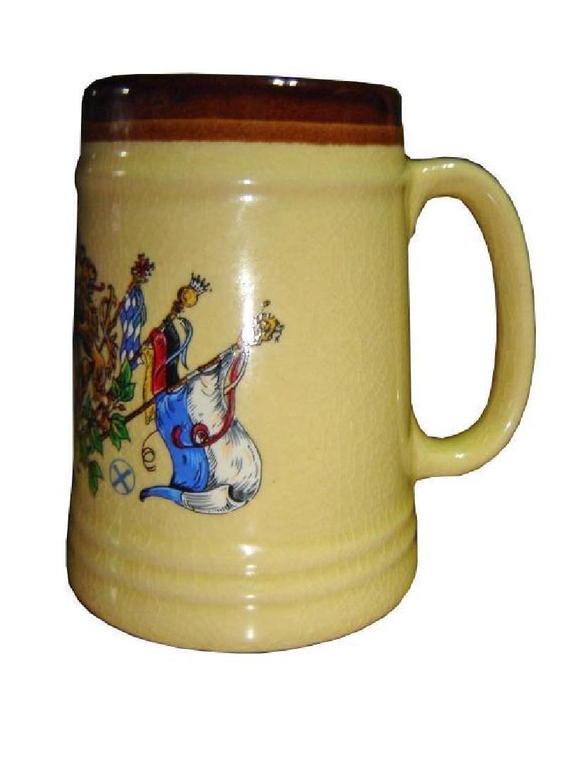Vintage Lion Crest Ceramic Beer Stein Tankard - 2