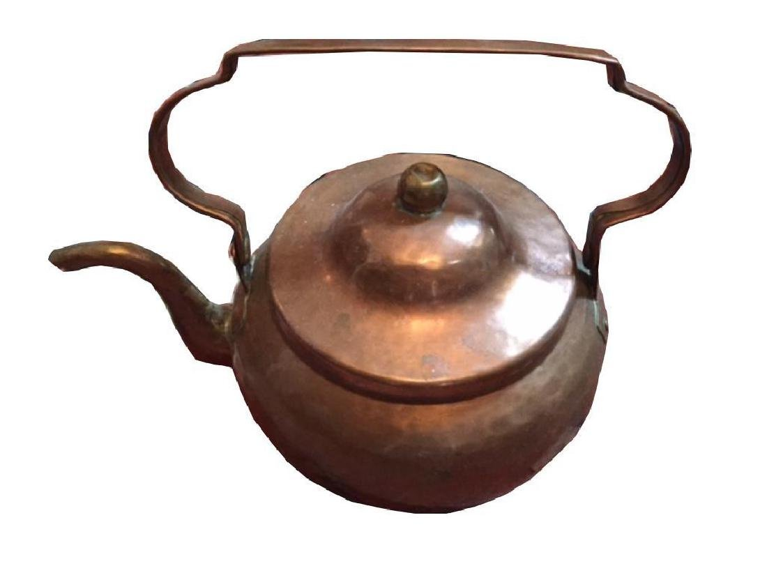 Set Of Antique Copper Kettles - 2