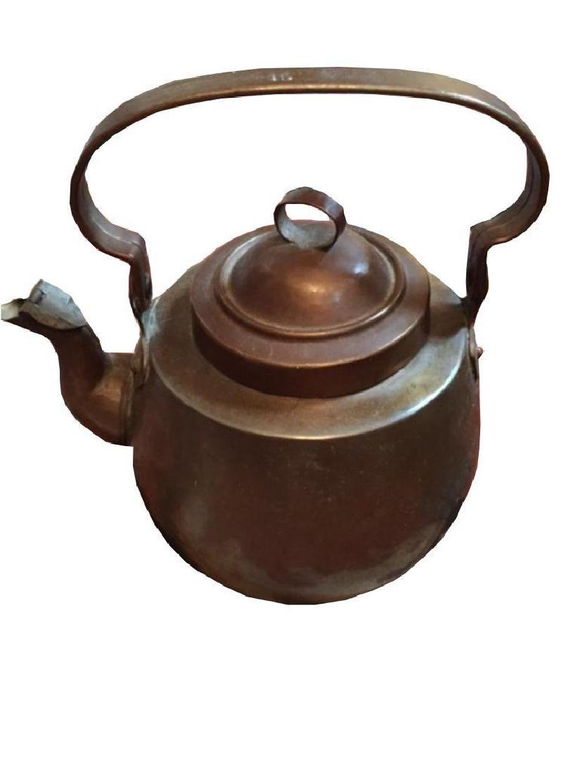 Set Of Antique Copper Kettles - 5