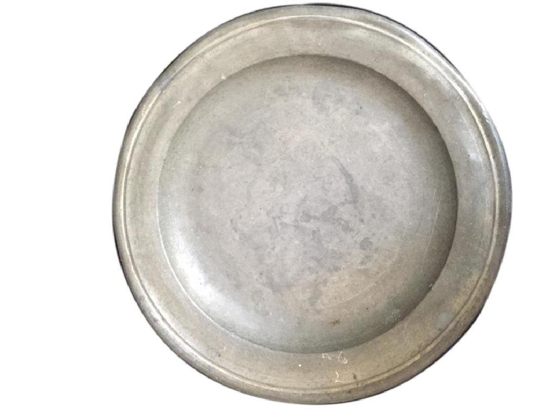 18thc Townsend & Compton Pewter Plate