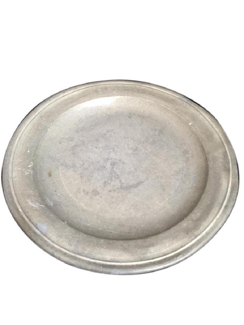 18thc Townsend & Compton Pewter Plate - 2