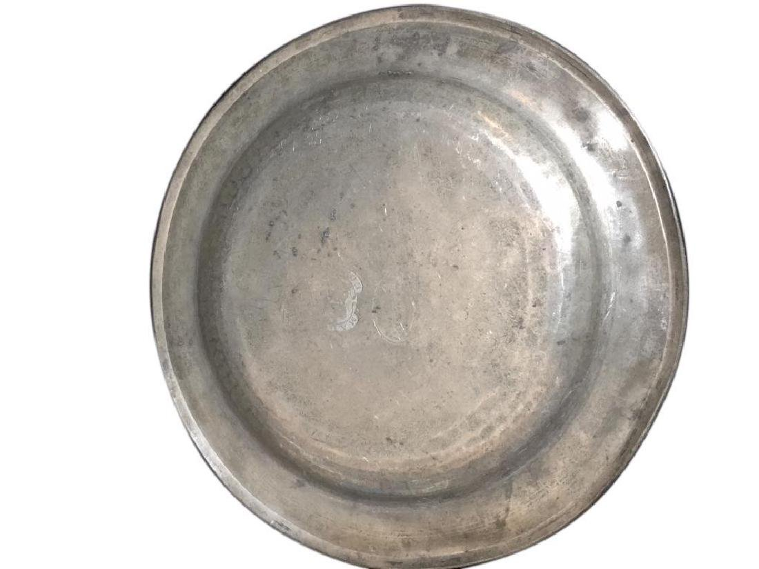 18thc Townsend & Compton Pewter Plate - 3