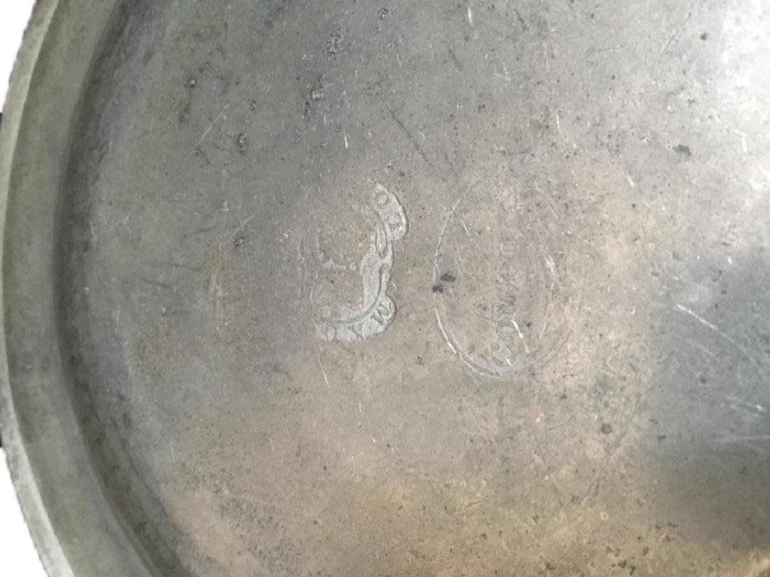 18thc Townsend & Compton Pewter Plate - 4