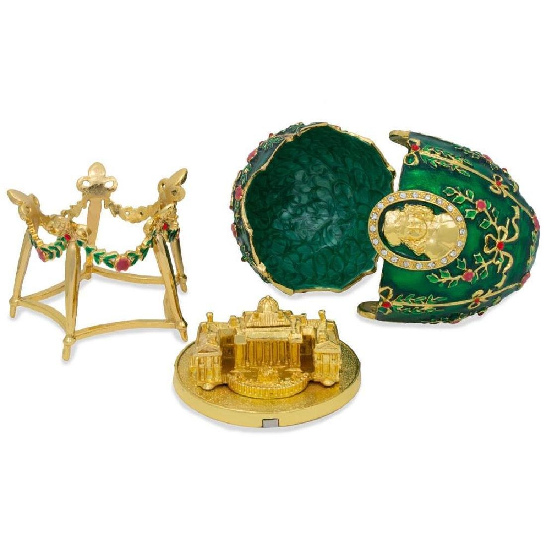 Faberge Inspired 1908 Alexander Palace Faberge Egg - 5