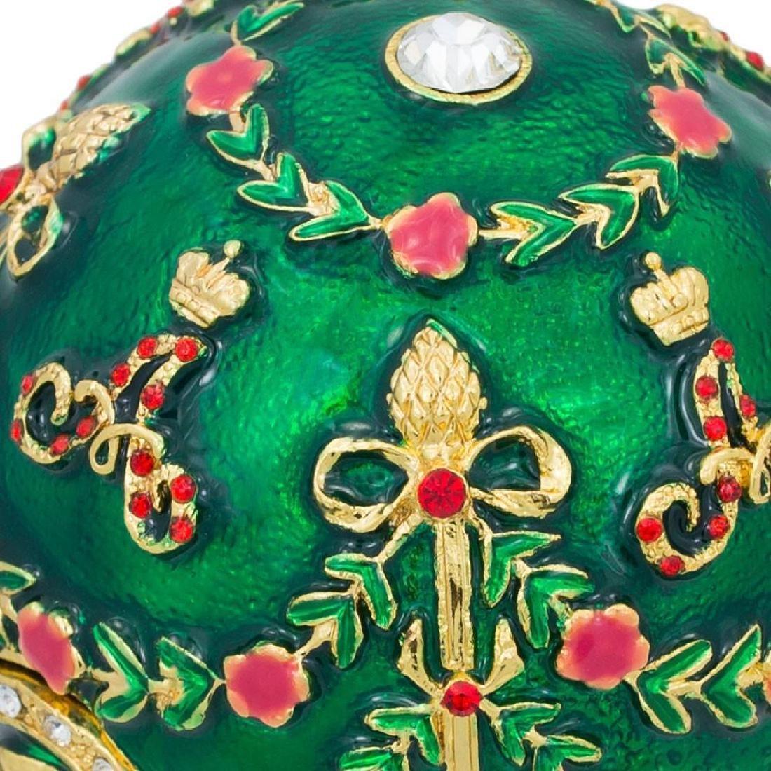 Faberge Inspired 1908 Alexander Palace Faberge Egg - 7