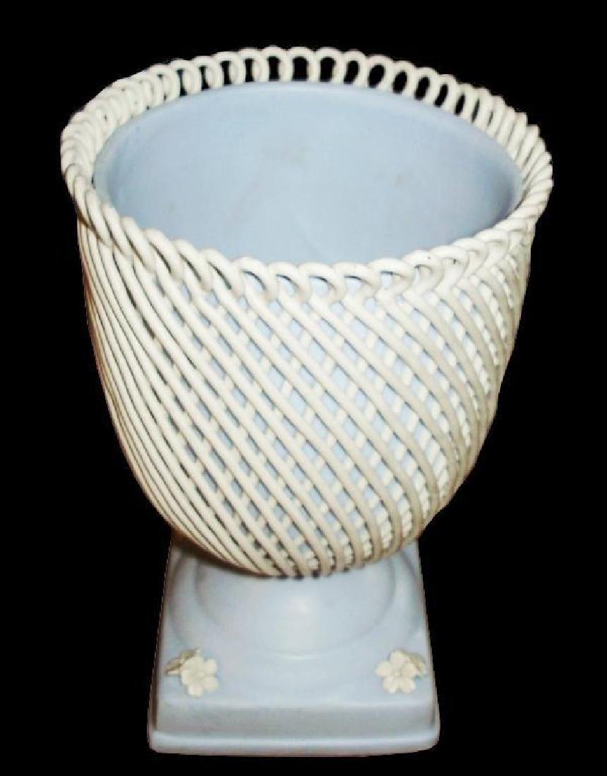 Rare Capodimonte Jasperware Compote Vase