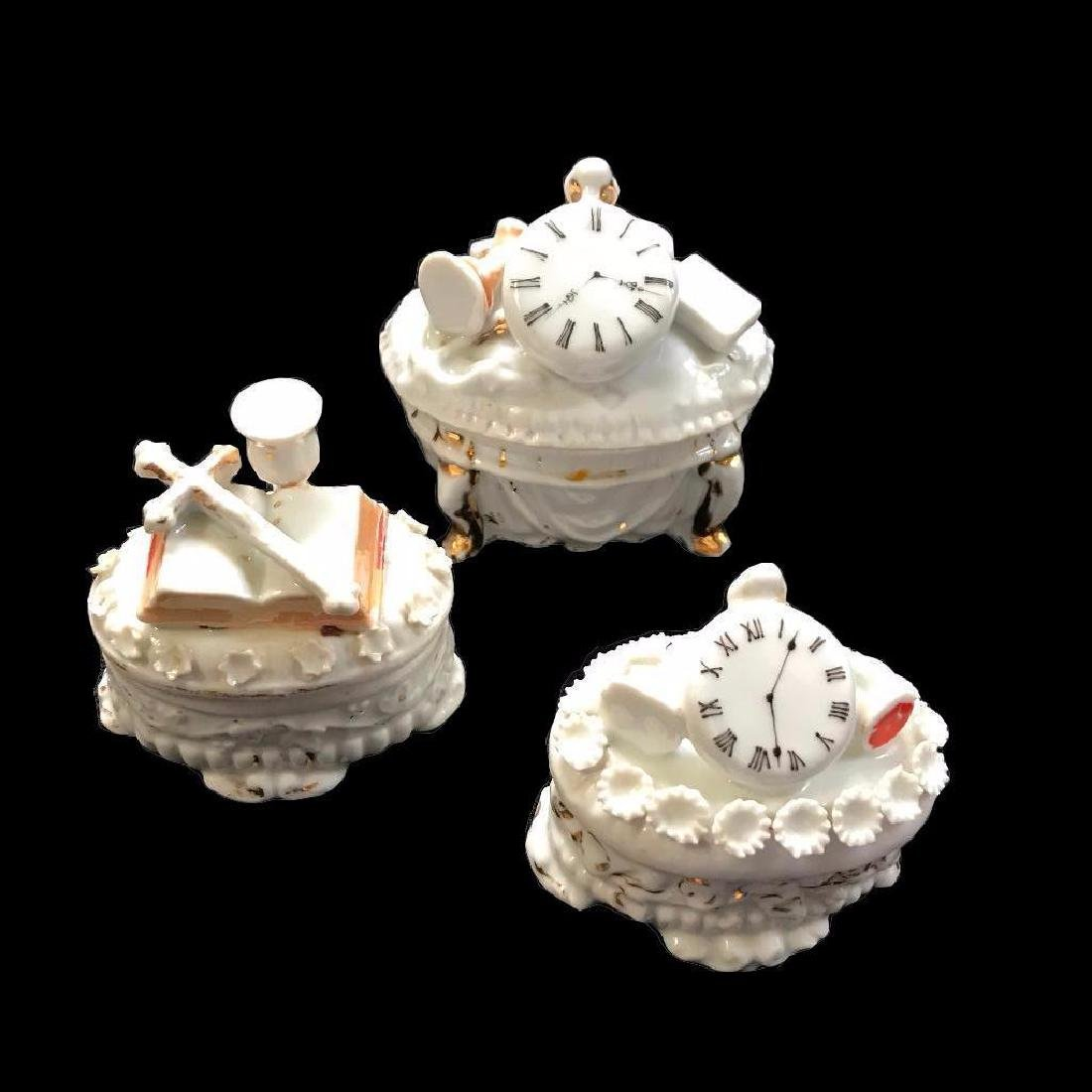 Set of Three Mid 19thc Continental Porcelain Fairing
