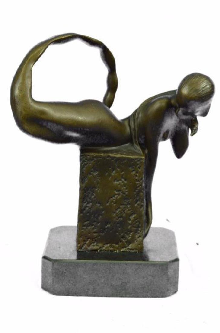 Art Deco Mermaid Bronze Sculpture