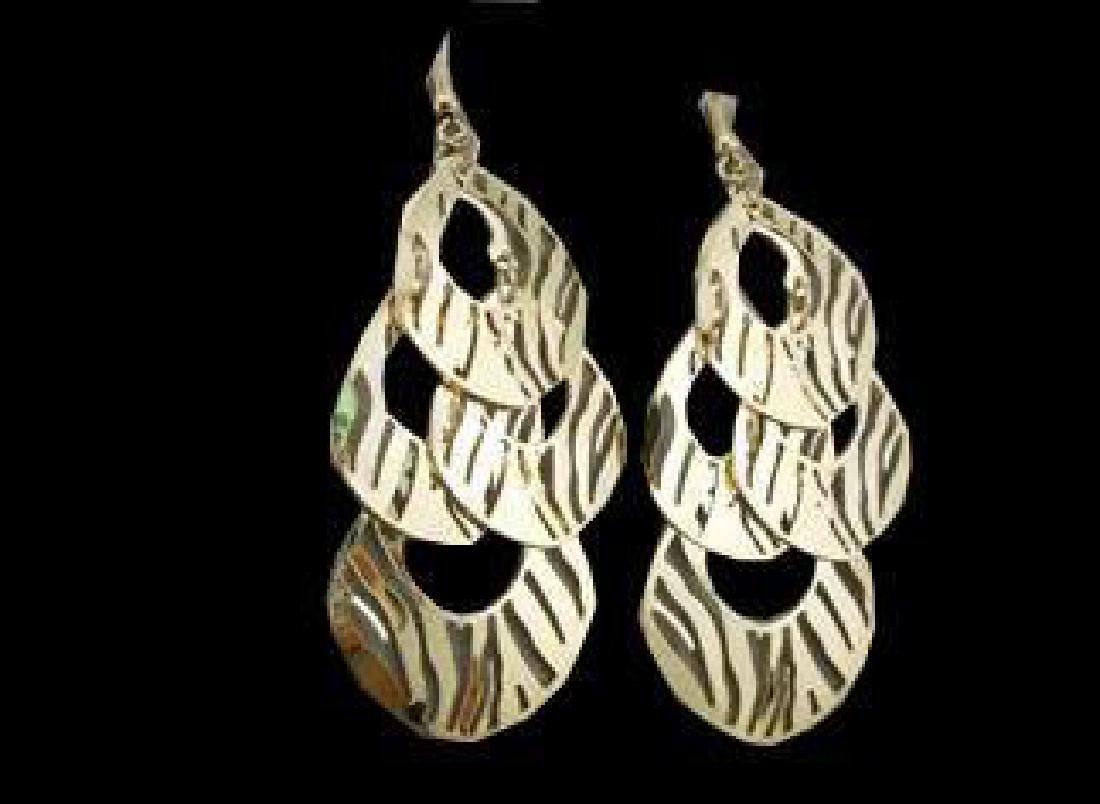 Wild Animal Gold Chandelier Earrings