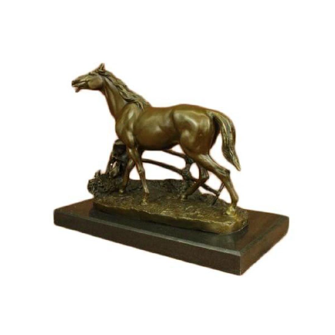 Whinny Stallion Arabian Horse Bronze Sculpture
