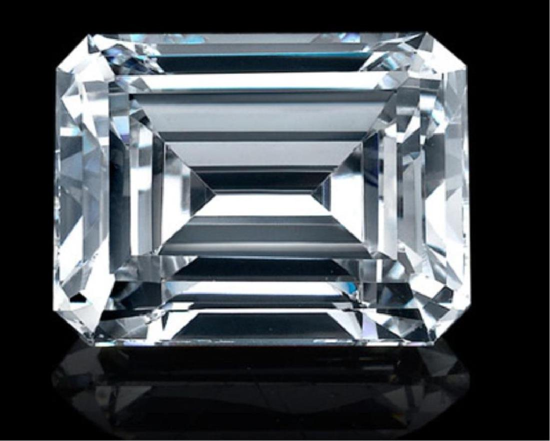 4ct Emerald Cut BIANCO Diamond