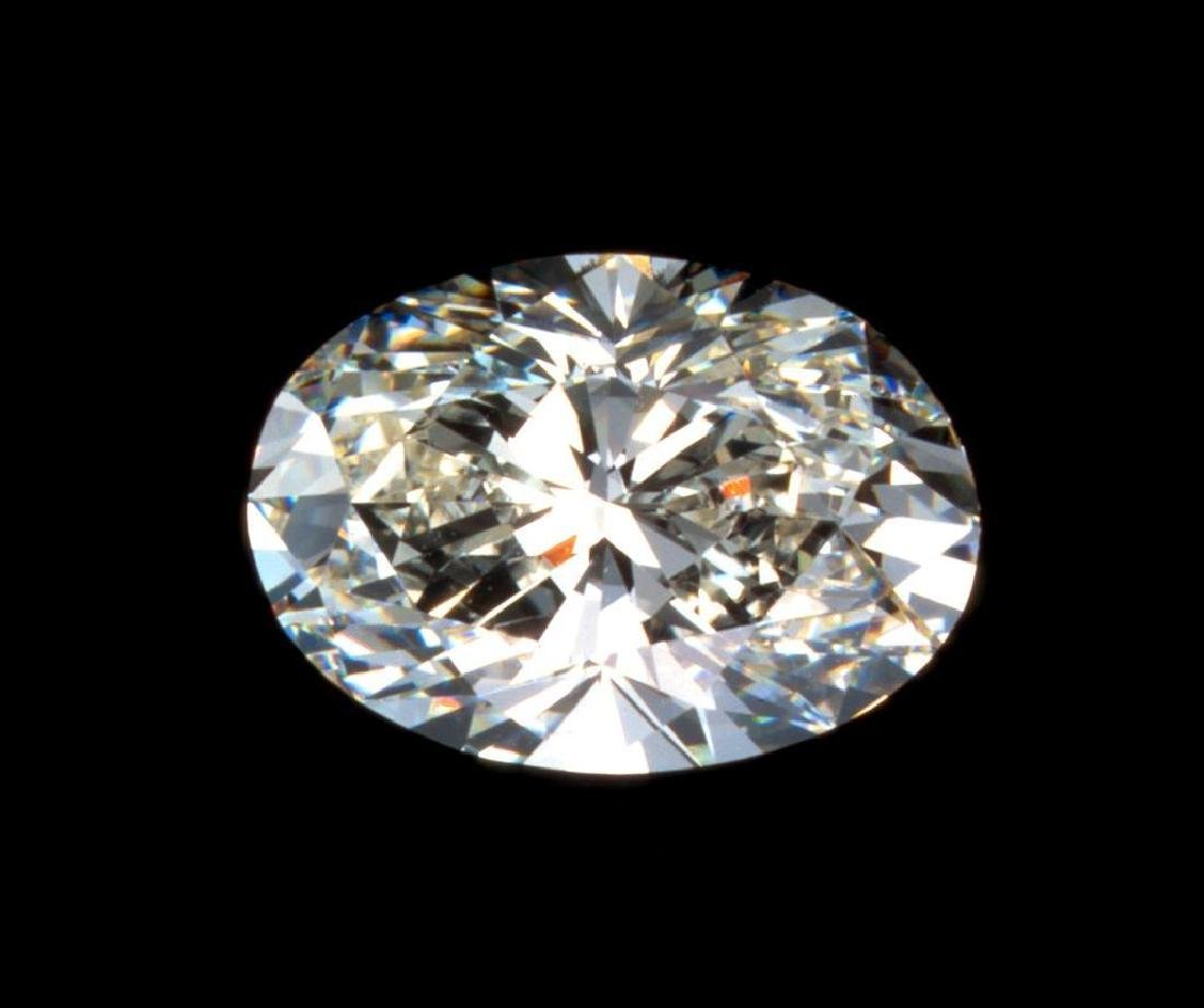 Nice, clean 1.25 carat Oval Brilliant Cut BIANCO®