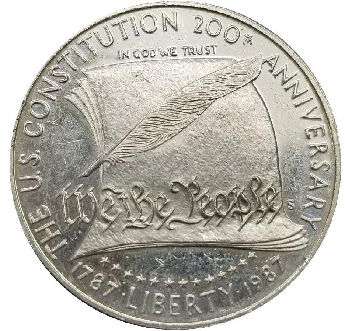 1987-s U.s. Constitution Commemorative Proof Silver