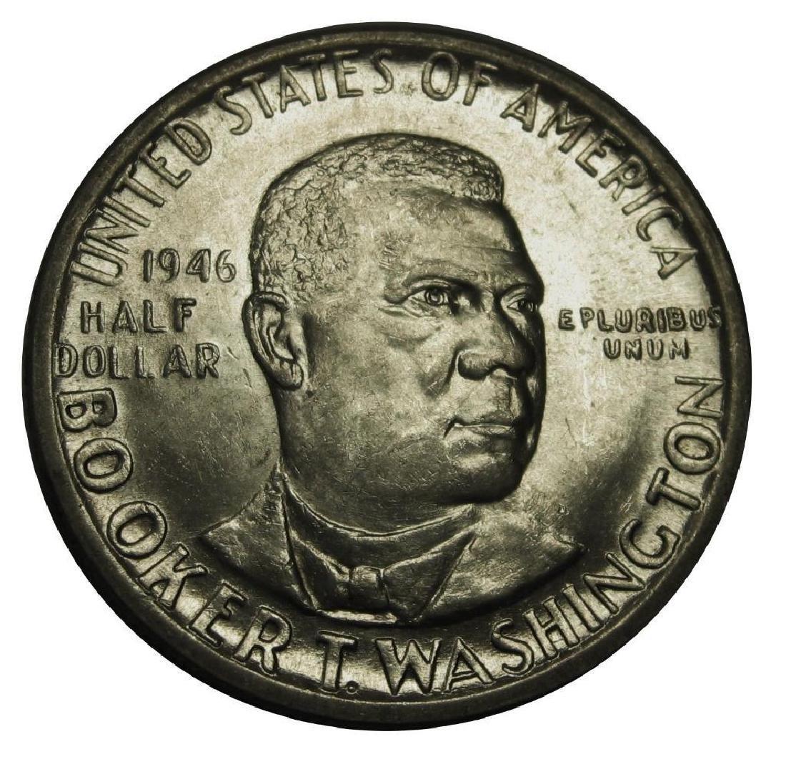 1946 Booker T Washington Silver Commemorative Half