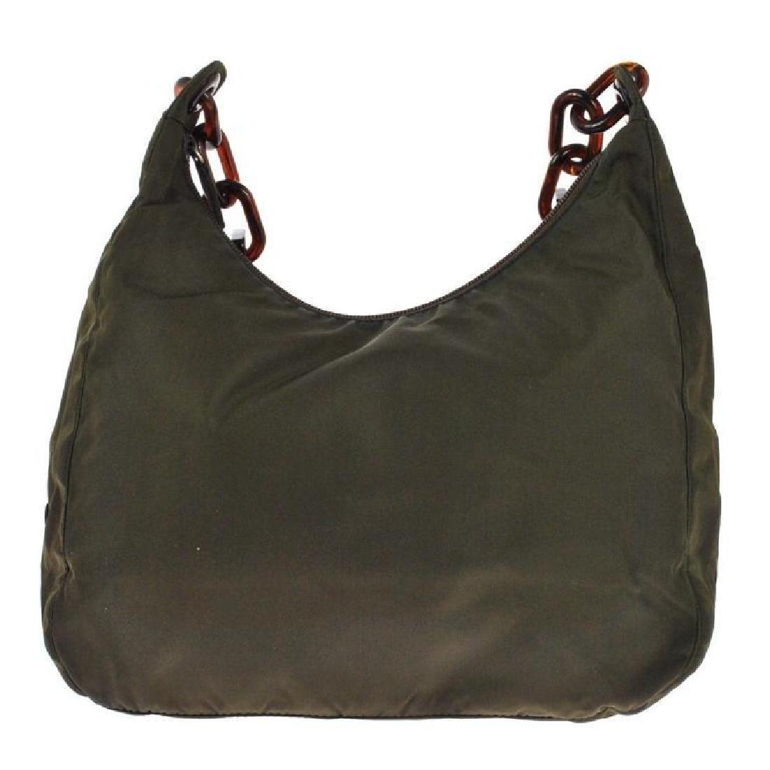 Authentic PRADA Nylon Olive Brown Purse Bag