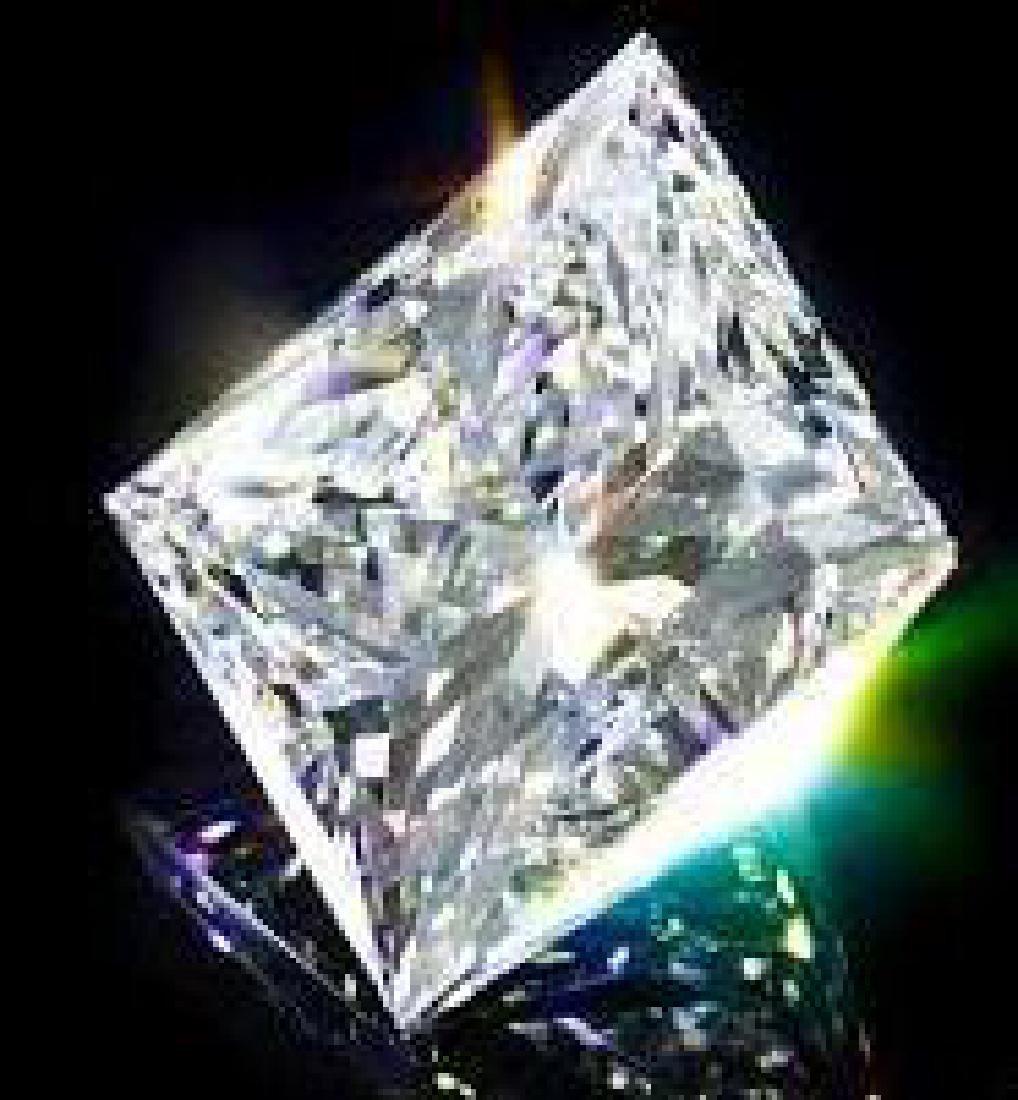 Fabulous 5 Carat Princess Cut Bianco Diamond