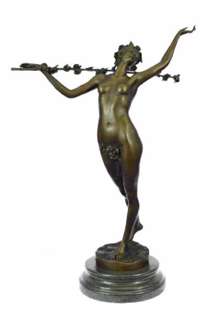 Signed Original Vitaleh Nude Nymph Calling into Forest