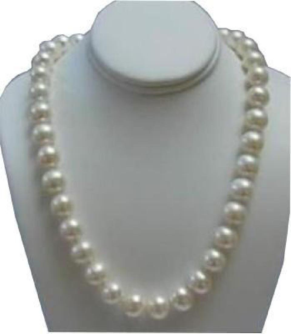 9-10mm White Akoya Pearl Necklace