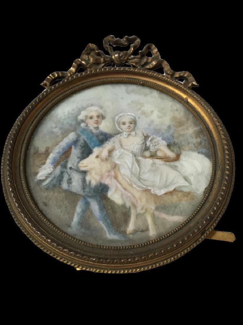 18th Century Miniature Porcelain Painting