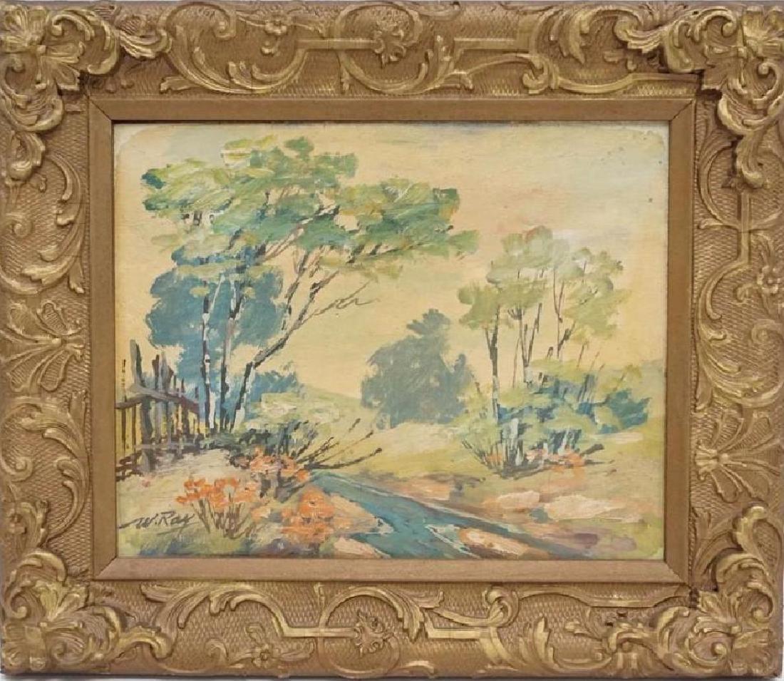 Vintage Impressionist Oil on Board