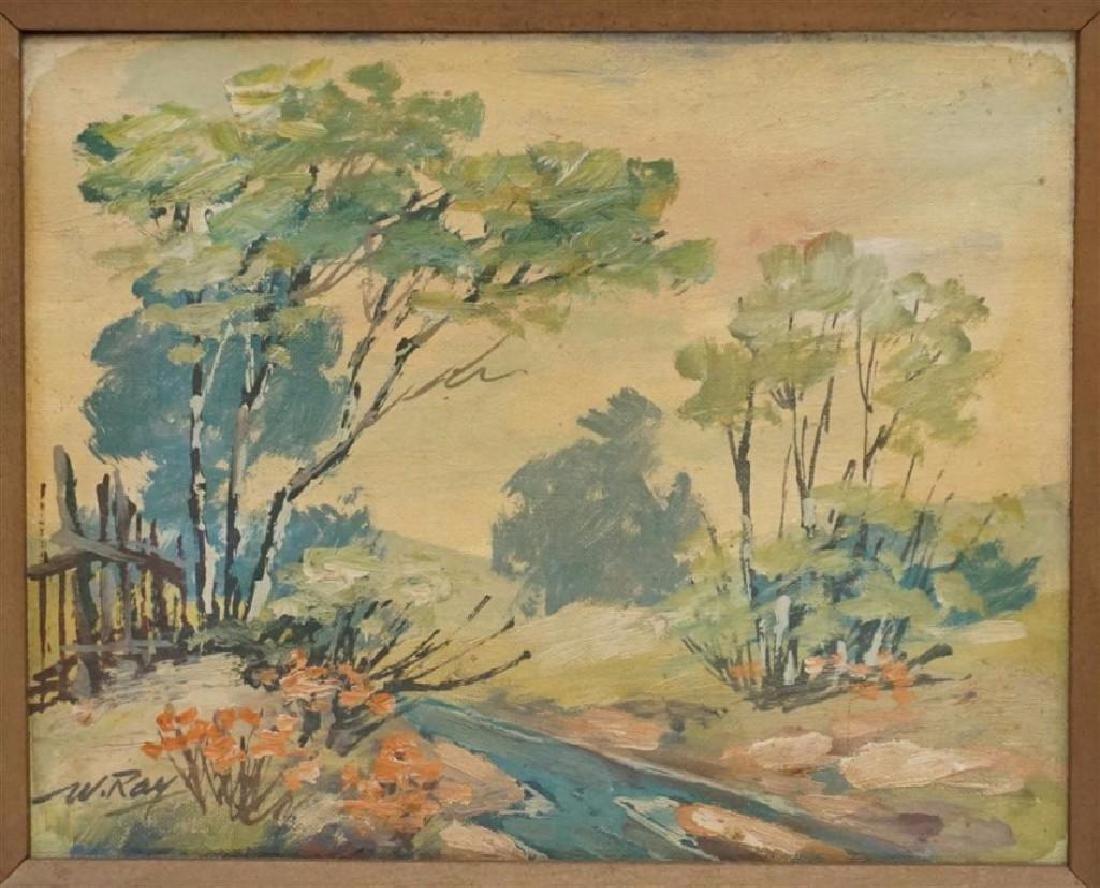 Vintage Impressionist Oil on Board - 2