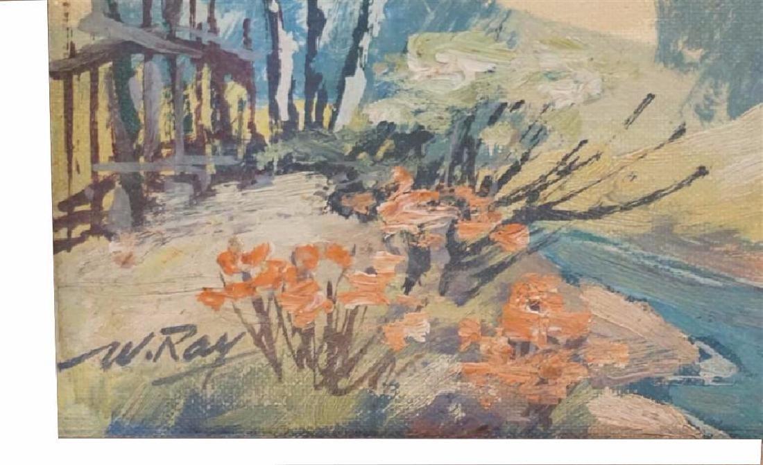 Vintage Impressionist Oil on Board - 4