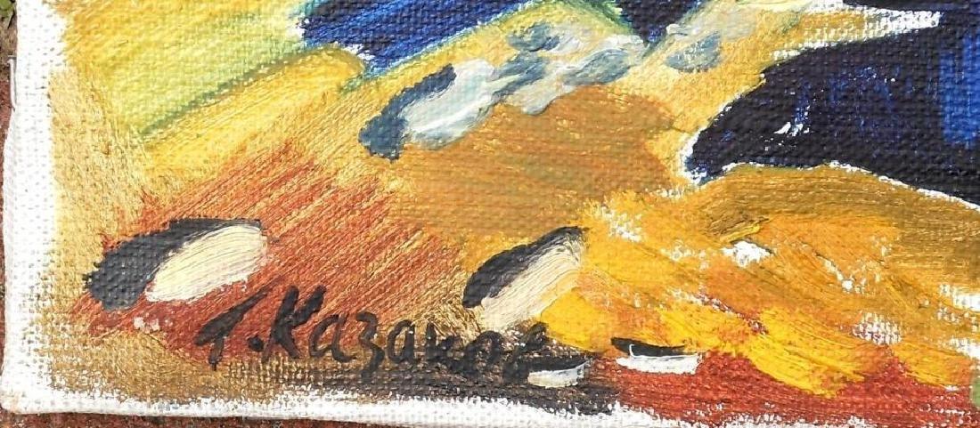Signed Ukrainian Landscape Oil Painting - 2