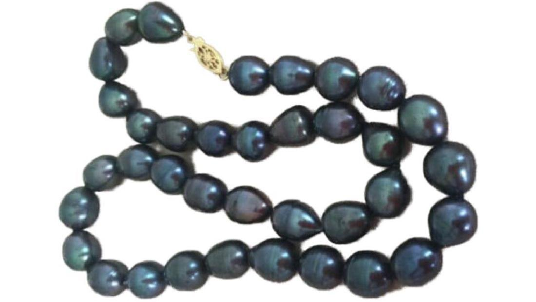 8-9mm Black Baroque Freshwater Pearl Necklace