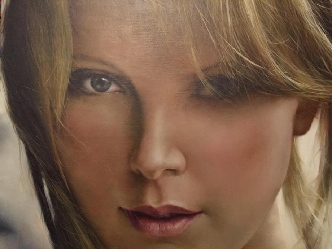 Charlize Theron, Signed Original Oil Painting,