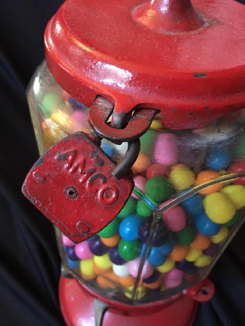 Vintage 1930's Columbus Penny Gumball Machine - 4