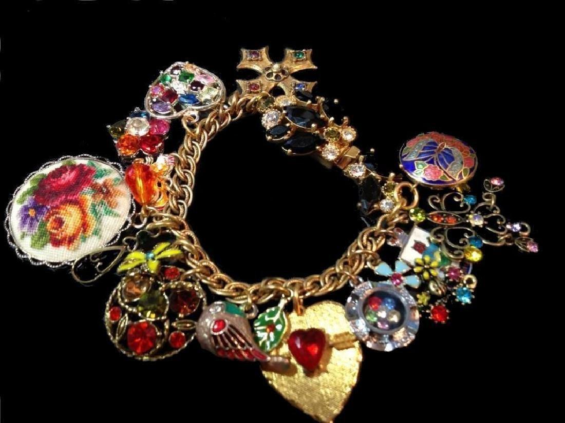Vintage Multi Charm Bermuda Art Bracelet