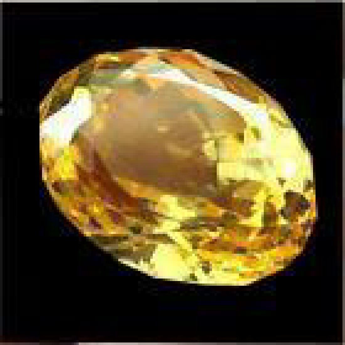 12.22ct Certified Yellow Citrine Oval Cut Gemstone