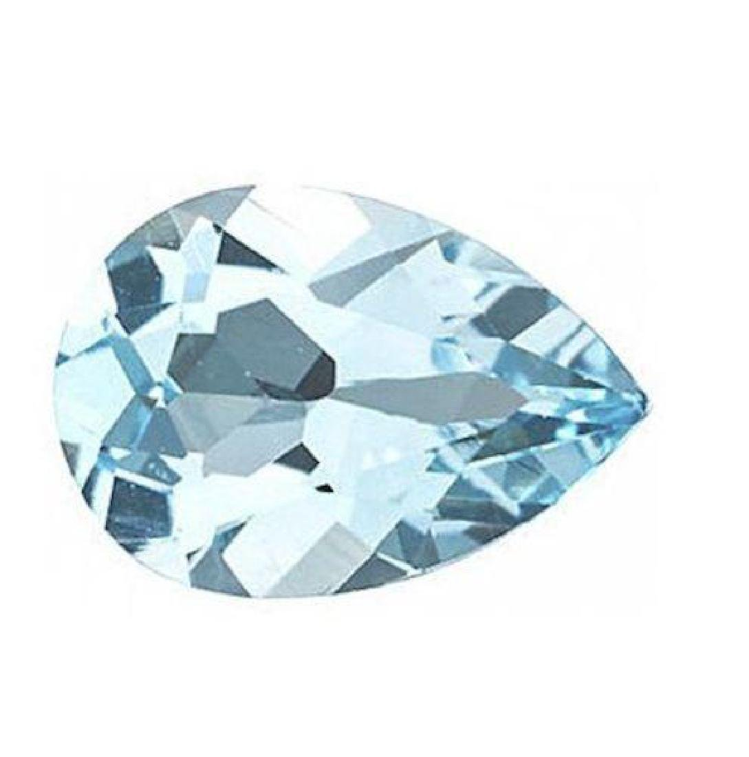 3cts Natural Sky Blue Topaz AAA Pear Shape - Loose