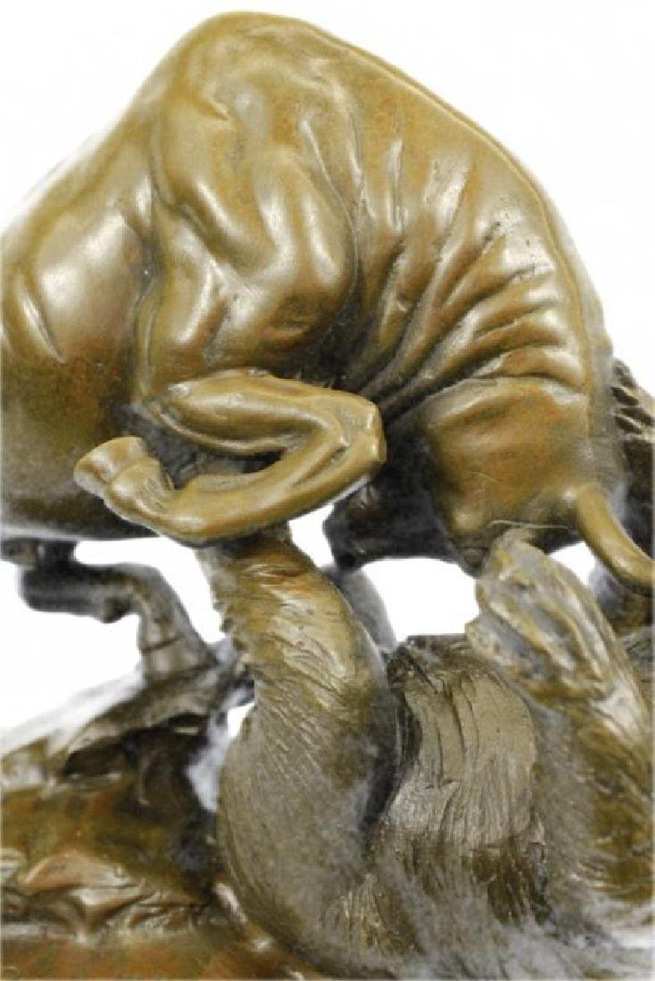 Hot Cast Stock Market Bull Vs Bear Bronze Sculpture - 7