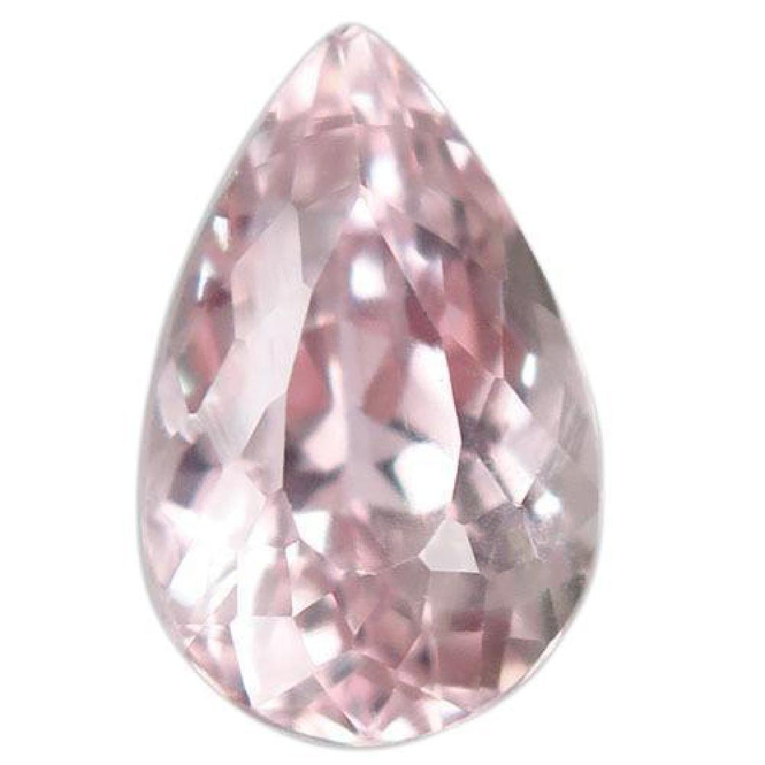 7.22ct. Pear Faceted Natural Unheated Brazilian Silver