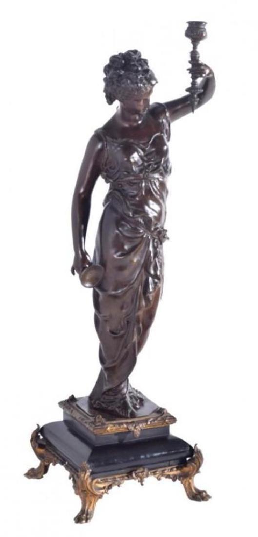 Victorian Bronze Patinated Figure
