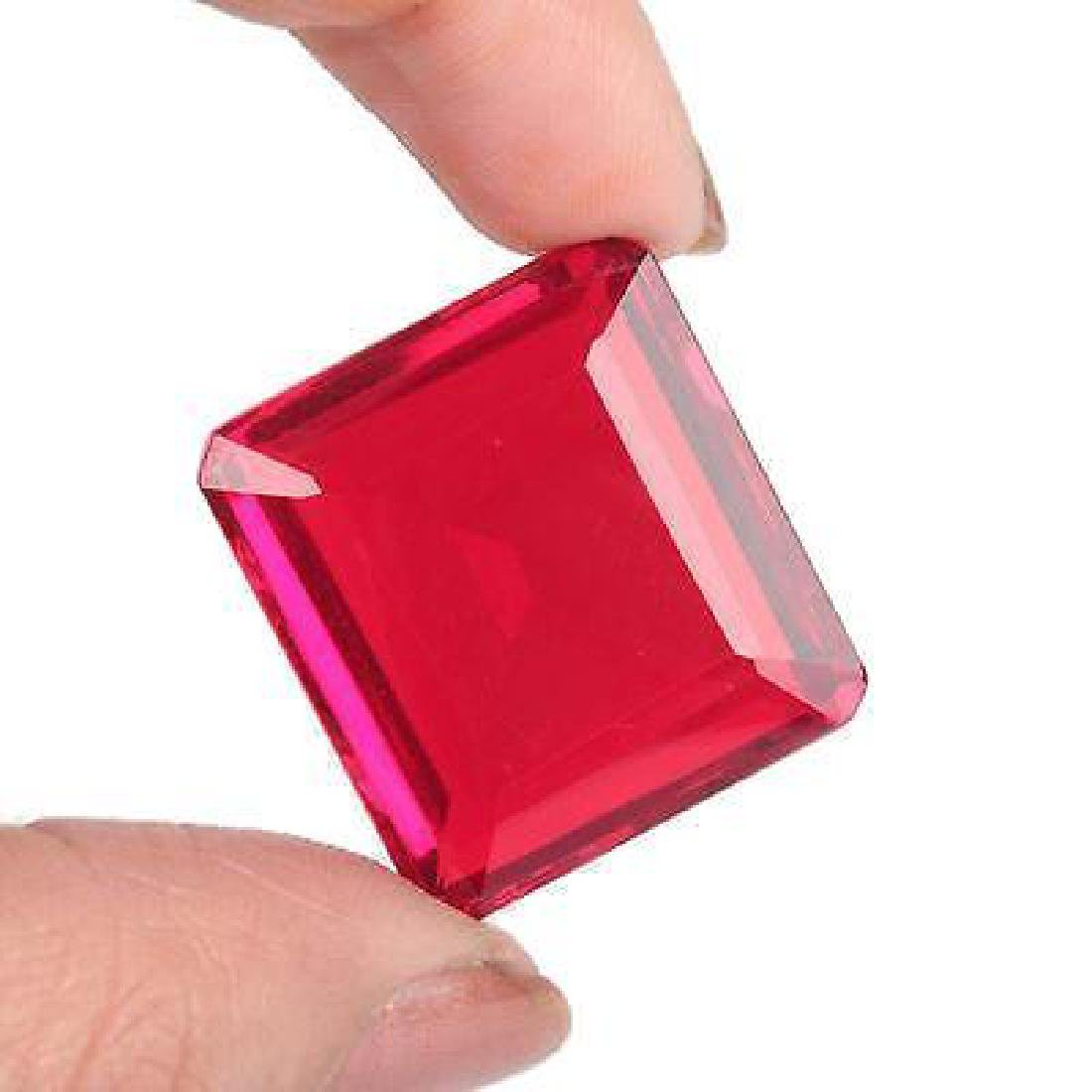 45.5 ct. Certified Octagon Shape Natural Red Brazilian