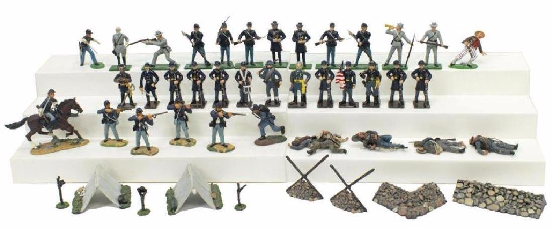 (40) U.s. Civil War Metal Miniature Soldiers - 2