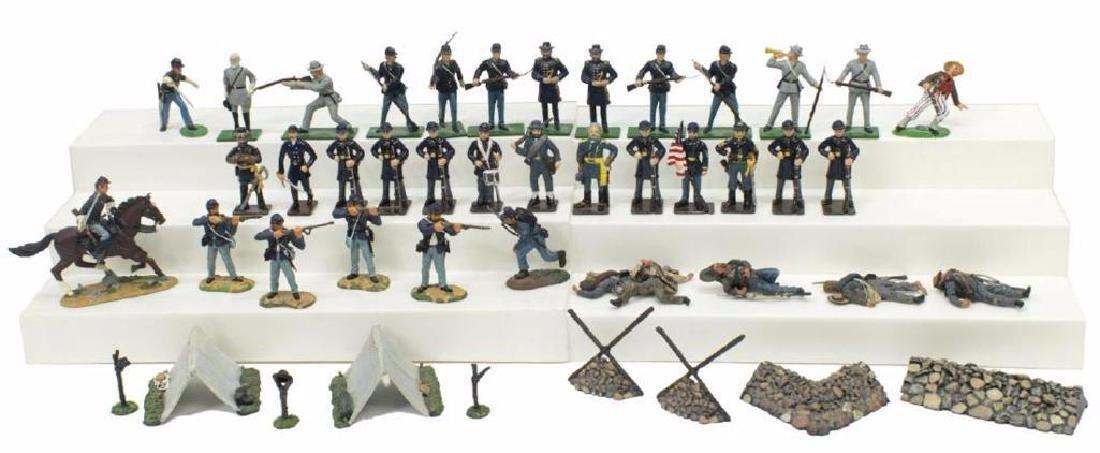 (40) U.s. Civil War Metal Miniature Soldiers - 2