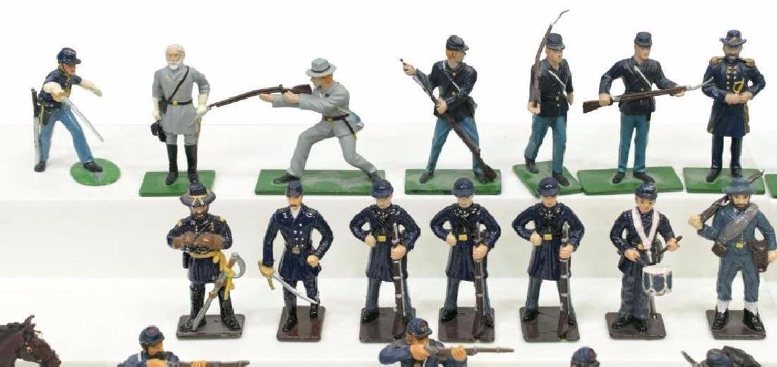 (40) U.s. Civil War Metal Miniature Soldiers - 3