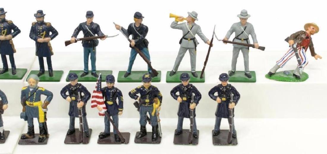 (40) U.s. Civil War Metal Miniature Soldiers - 4