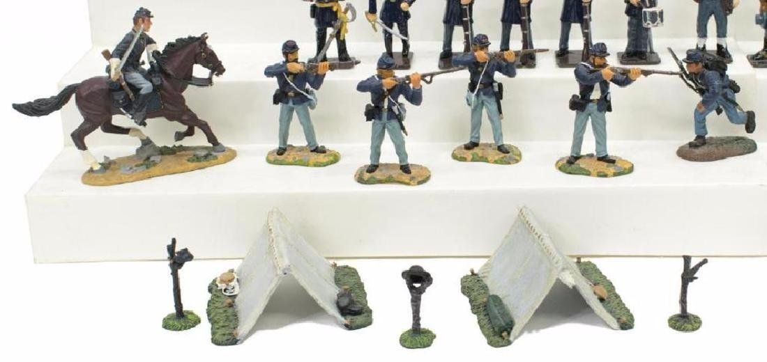 (40) U.s. Civil War Metal Miniature Soldiers - 6