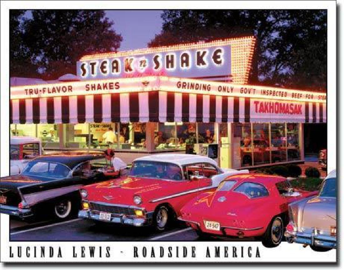 Steak n Shake Roadside America Metal Sign