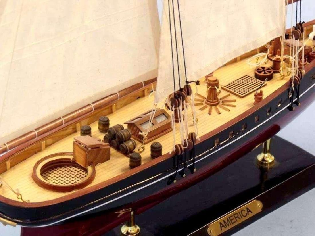 """Wooden America Limited Model Sailboat 24"""" - 10"""